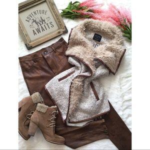 Love Tree Faux Fur Sherpa Vest